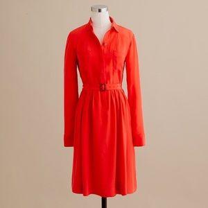 J. Crew Blythe Silk Shirt Dress